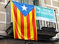 Pro-Independence Catalan Flag and Referendum Poster - Girona - Catalunya - Spain (14352808976).jpg