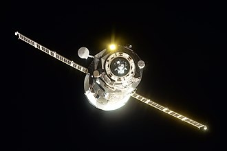 Progress MS-07 - Progress MS-07 shortly before docking to the ISS on 16 October 2017