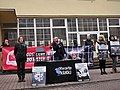 Protest stowarzyszenia Otwarte Klatki przeciwko branży futrzarskiej, Gniezno, listopad 2014 .jpg