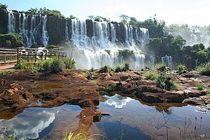 Iguazú Falls, the world's largest by volume.