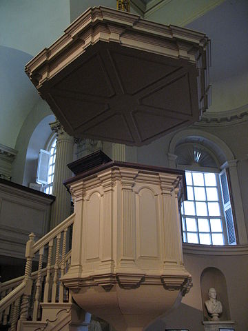 King's Chapel pulpit