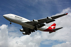 A Boeing 747 aircraft in service with Qantas