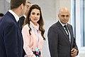 Queen Rania Al Abdullah of Jordan and UK minister Sajid Javid (24182367514).jpg