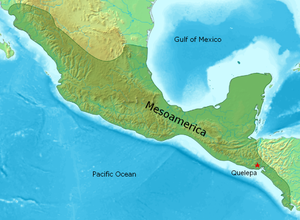 Quelepa - Location of Quelepa within the Mesoamerican cultural region