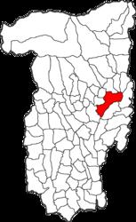 Location in Vâlcea County