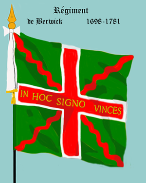 "Irish Brigade (France) - Flag of the ""Régiment Berwick"""