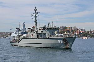 Huon-class minehunter - Image: RAN IFR 2013 D3 81