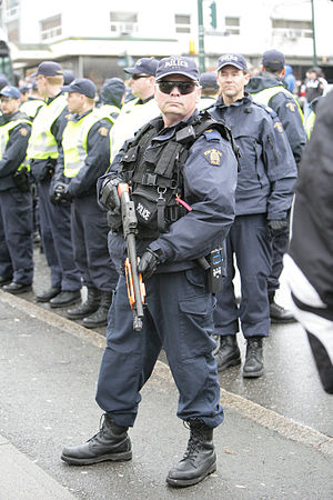 RCMP in riot gear