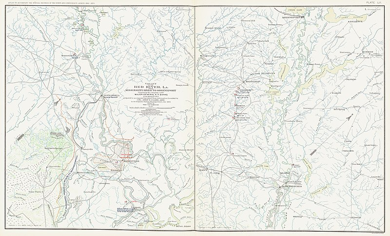 Map of the Red River Campaign. RED RIVER CAMPAIGN MAP2.jpg