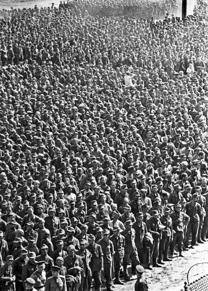 RIAN archive 129359 German prisoners-of-war in Moscow