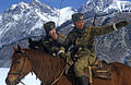 RIAN archive 482282 Mounted guards at frontier's alpine section.jpg