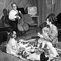 RIAN archive 70350 Opera singer Galina Vishnevskaya and cellist Mstislav Rostropovich with their daughters at home.jpg
