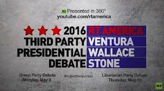 Libertarian Party presidential debates and forums, 2016 - Image: RT 2016 Green Party and Libertarian Party debates