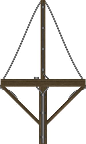USS Dorado (SS-248) - FuMB-1 Metox-U-boat radar detector antenna, similar to the Biscay Cross.
