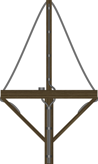 """Metox radar detector - FuMB-1 Metox - This rudimentary antenna, consisted of five pieces of wood tied together into a cross, with wires wrapped around it. It was installed into a bracket on the conning tower and periodically was rotated by hand. British photographs of the antenna led to their nickname, """"Biscay Cross""""."""