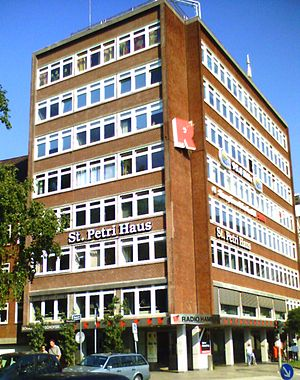 Radio Hamburg - The former Radio Hamburg building, the St. Petri Haus