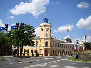 Radomsko Place in Łódź Voivodeship, Poland