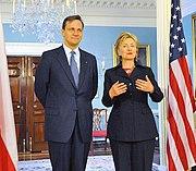 Radoslaw Sikorski meets Secretary Hillary Clinton