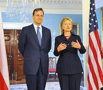 Radosław Sikorski - Radosław Sikorski meets U.S. Secretary Hillary Clinton.