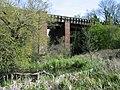 Railway bridge and pond - geograph.org.uk - 778712.jpg