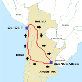 Route van de Dakar Rally 2015