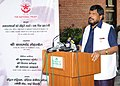 """Ramdas Athawale addressing at the inauguration of the documentary photo exhibition """"The Paths We Walk"""", organised by the National Trust under Ministry of Social Justice & Empowerment, in New Delhi.jpg"""