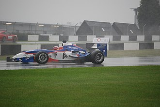 Rangers F.C. (Superleague Formula team) - Ryan Dalziel during race 2 on a wet Donington Park track in 2008.