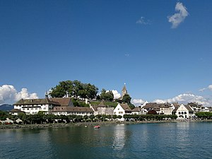 Rapperswil - Kapuzinerkloster-Lindenhof-Einsiedlerhaus-Schwanen - Zürichsee - Dampfschiff Stadt Rapperswil 2012-07-22 17-20-02 (N8)ShiftN.jpg