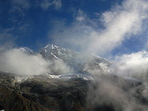 Rathong Glacier - Image: Rathong Peak