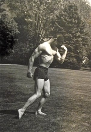 Ray Zinn - Ray Zinn, high school, gymnastics pose