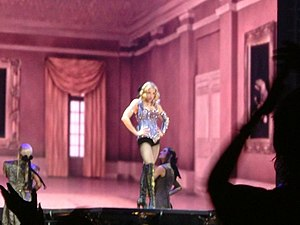 "Re-Invention World Tour - Madonna and her dancers opening the concert with ""Vogue"""