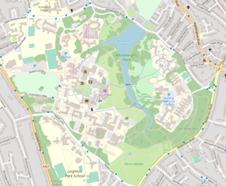 Whiteknights Park - Map of Whiteknights campus