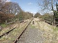Redundant railway crosses Sweeney Lane - geograph.org.uk - 154835.jpg