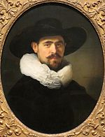 Rembrandt, Portrait of a Bearded Man in a Wide-Brimmed Hat (probably Pieter Seijen), 1633, Norton Simon Museum, Pasadena.jpg