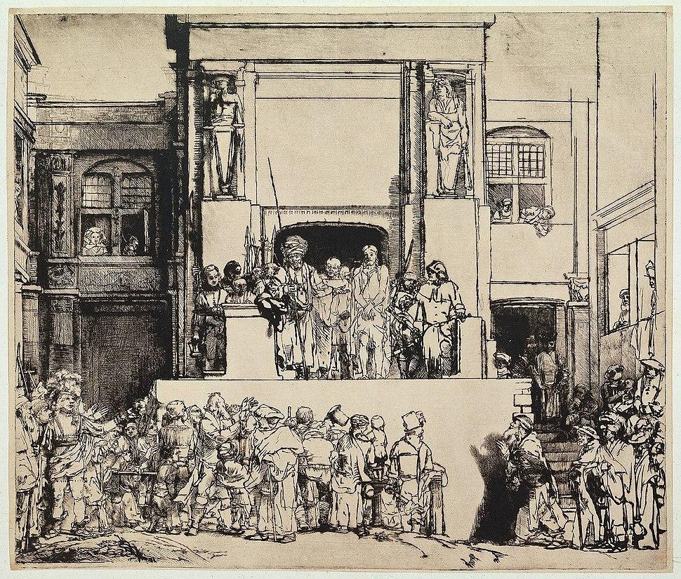 Rembrandt Christus aan het volk getoond