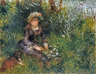 Aline Charigot - Image: Renoir 1880 Madame Renoir with a Dog