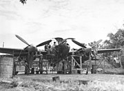 Repairs to P-38 by 459th Fighter Squadron at Chittagong, India - January 1945