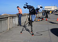 Reporters are covering tsunami alert in San Francisco.jpg