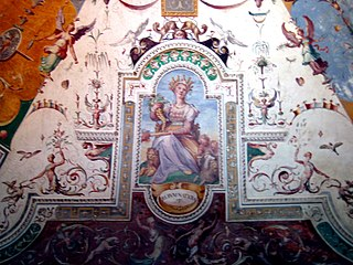 """Extravagant style of decoration discovered at the start of the Renaissance in the """"Grotto"""" in Rome, Nero"""