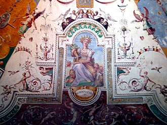 Grotesque - Mother Nature is surrounded by grottesche in this fresco detail from Villa d'Este.