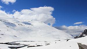 Stryn - View towards Stryn summer ski center