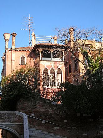 Palazzo Dario - View of the land-side facade.