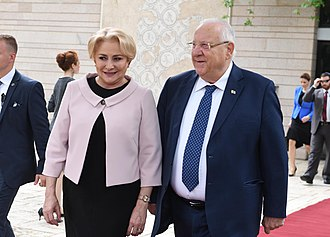 Viorica Dăncilă - Viorica Dăncilă meeting Israeli President Reuven Rivlin in April 2018