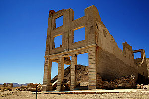 The Island (2005 film) - Ruins in Rhyolite, Nevada