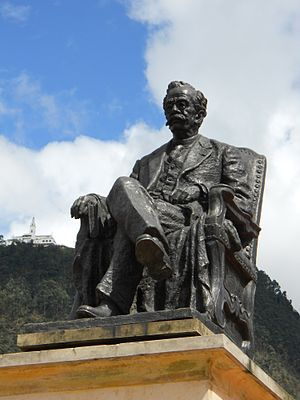 Ricardo Palma - Statue of Palma in Bogotá.
