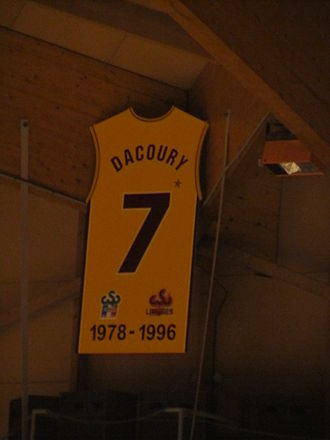 Limoges CSP - Dacoury's retired number 7