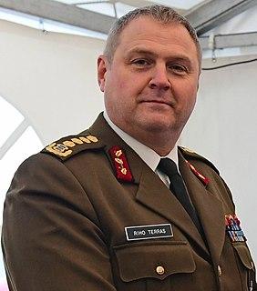 Riho Terras Estonian military personnel