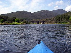 Alagón (river) - The Alagón a few kilometres downriver from Sotoserrano.