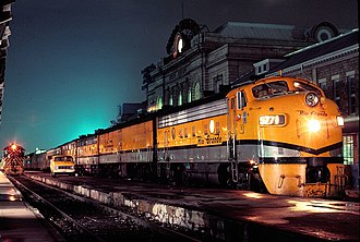 Amtrak - The Denver and Rio Grande Western Railroad's Rio Grande Zephyr at Denver's Union Station in April 1983