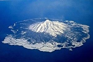 Mount Rishiri - Image: Rishiriislandairplan e